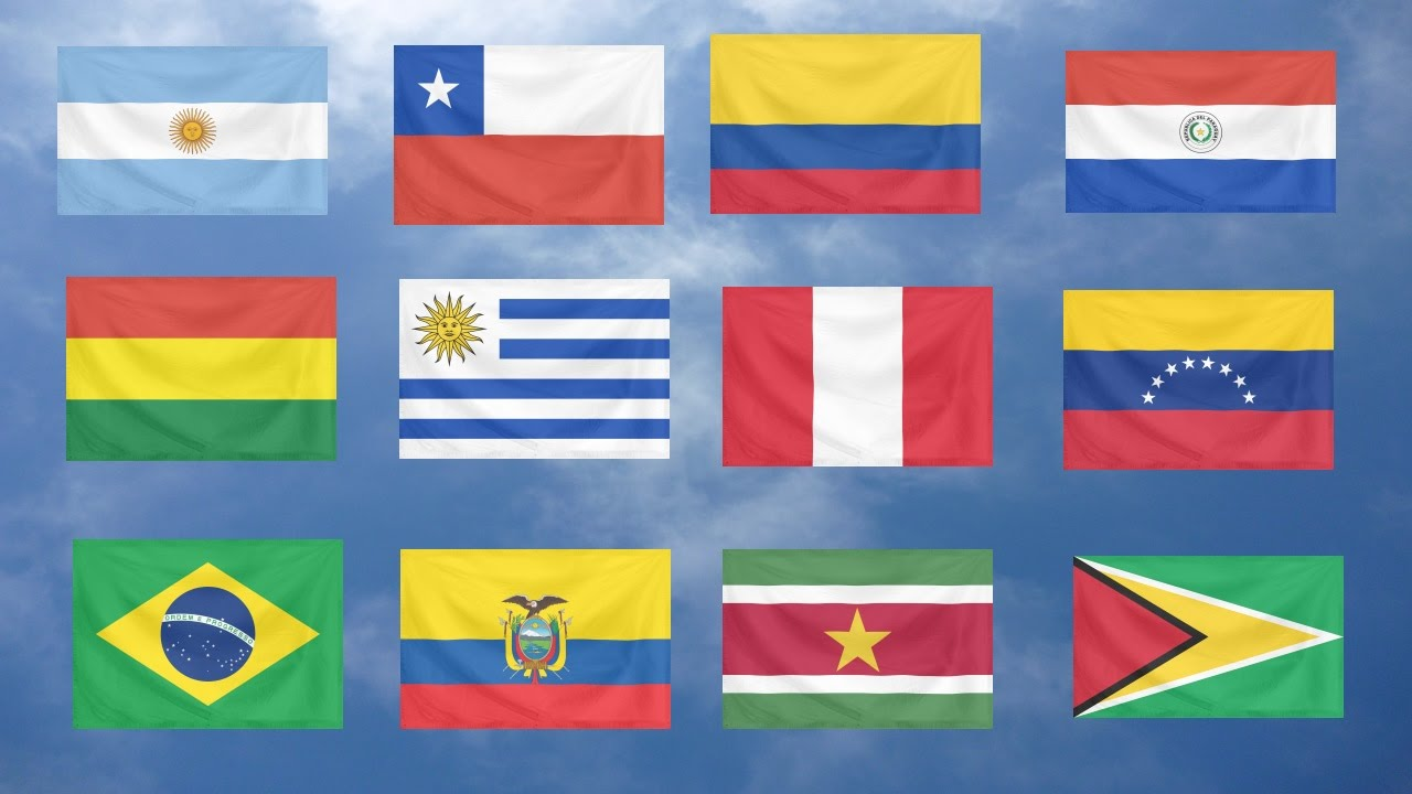 Image result for south america flags