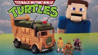 Teenage Mutant Ninja Turtles Mega Bloks Party Turtle Van Playset TMNT 1980's Unboxing Review