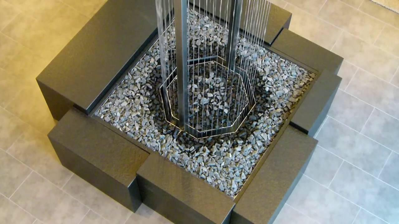 wasserfall wasserwand fadenbrunnen oktagon youtube. Black Bedroom Furniture Sets. Home Design Ideas