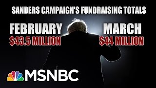 Money Continues To Pour In For Bernie Sanders Campaign | Morning Joe | MSNBC