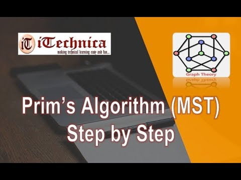 26. Prim''s Algorithm (MST): Step By Step With Example