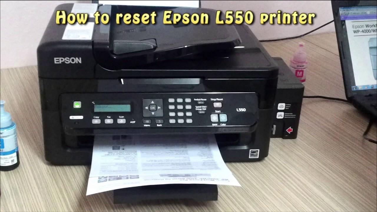 Reset epson l110. L210. L300. L350. L355. L550. L555 waste ink pad.