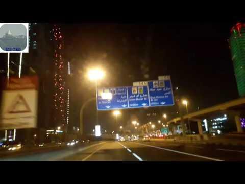 DUBAI VLOG-3 || Dubai road at night || Very beautiful and clean Dubai