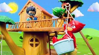 Romeo Pijamaskeliler'in gücünü kullanıyor. Çizgi film kahramanlar çocuk videosu.