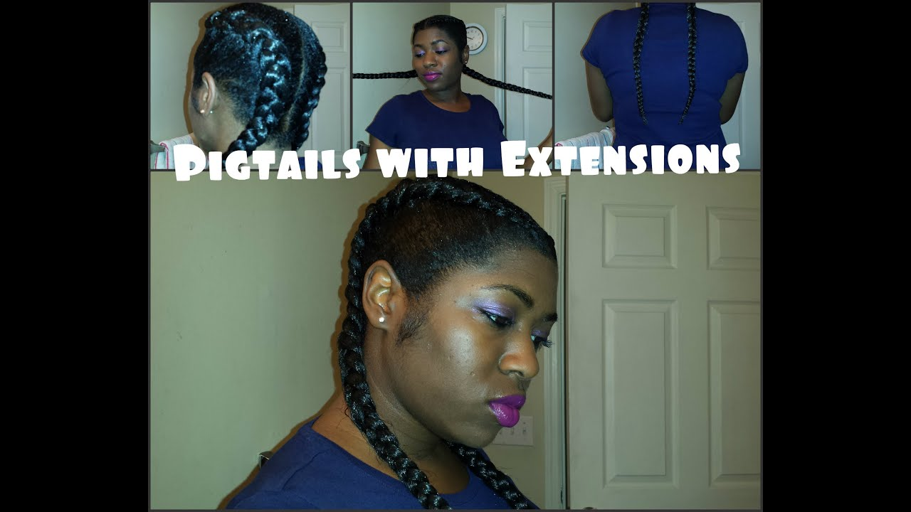 Pigtails With Extensions Easy Protective Hairstyle