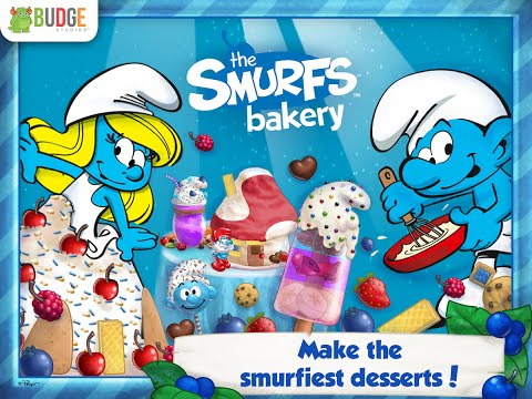 """The Smurfs Bakery """"Unlock All + No ADS"""" Budge Android İos  Free Game GAMEPLAY VİDEO"""