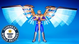 Largest mechanical wings on a cosplay costume - Meet the Record Breakers