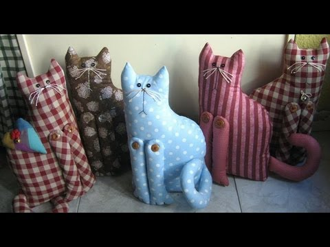 Clases rapida de patchwork monogr fico de gato sujeta for Sujeta puertas de tela