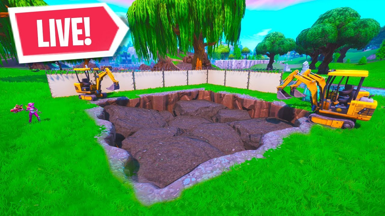 live loot lake dig site event fortnite battle royale - excavation sites fortnite
