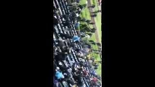 USP attack Sparta fans 23.10.2014 Bratislava