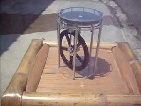 Large Stirling Engine Free Energy from the Sun