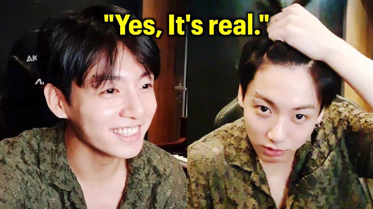 Jungkook Confirms Eyebrow Piercing Is Real | BTS 방탄소년단 정국 VLIVE 2021