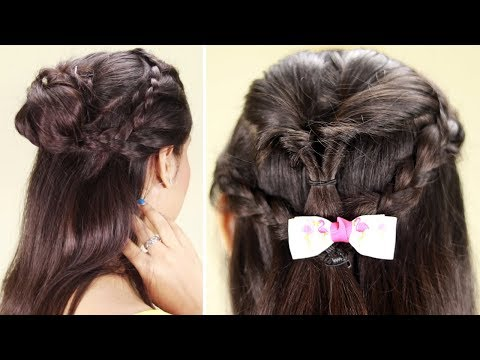 New Easy Hairstyle For Short Hair | Trending Hairstyle | Party Hairstyle | Latest 2019 Hairstyles thumbnail