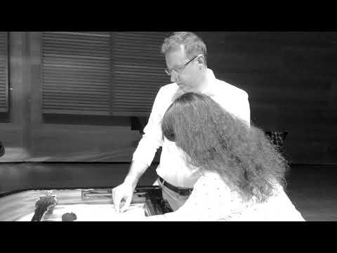 Amoria rehearsals premiere - Katia Marielle Labèque, Carlos Mena, Hegiak