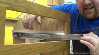 Building Custom Oak Cabinets Episode 11-Installing The Drawers
