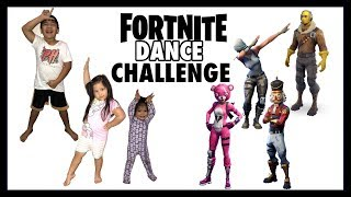 FORTNITE DANCE CHALLENGE In real life | All Fortnite Dances | Kids Edition