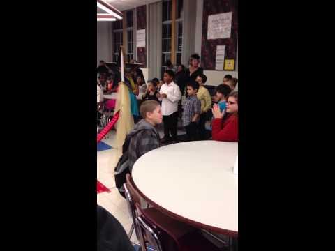 Red carpet at John Barry school - Christopher