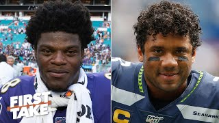 Lamar Jackson or Russell Wilson: Who is the more valuable QB? | First Take Video