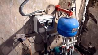 видео Электрический отопительный котел Галан