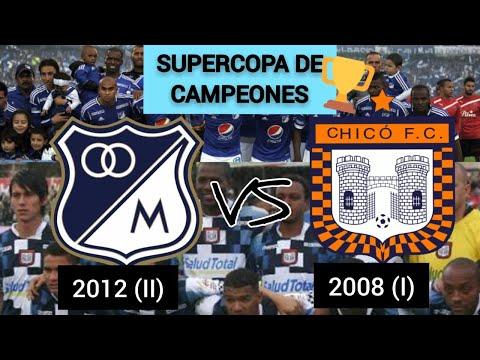 SUPERCOPA DE CAMPEONES: MILLONARIOS 2012 (II) VS BOYACÁ CHICÓ 2008 (I)
