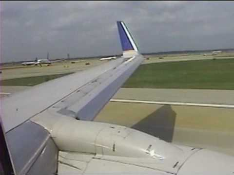 Boeing 737-800 Take off Houston Continental Airlines