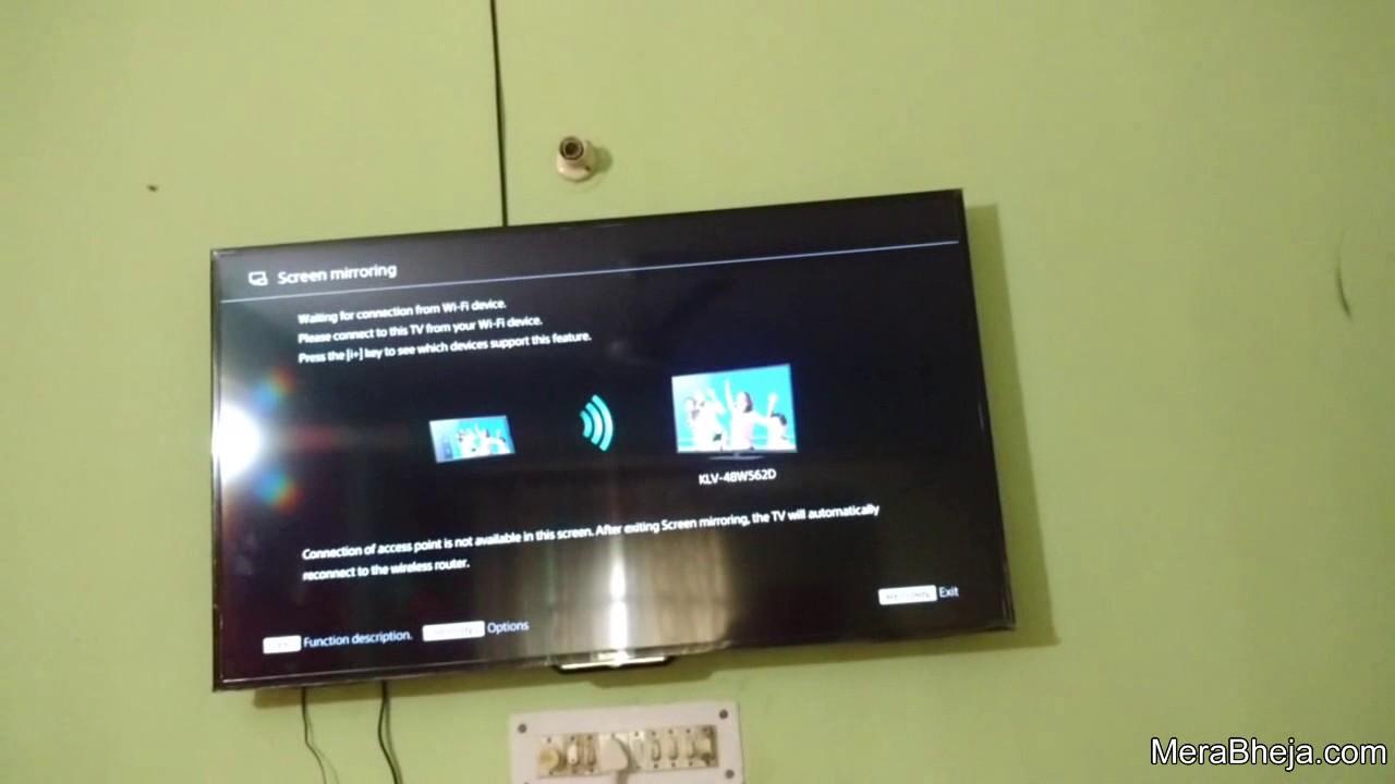 Sony Smart tv screen mirroring with laptop having Windows 10