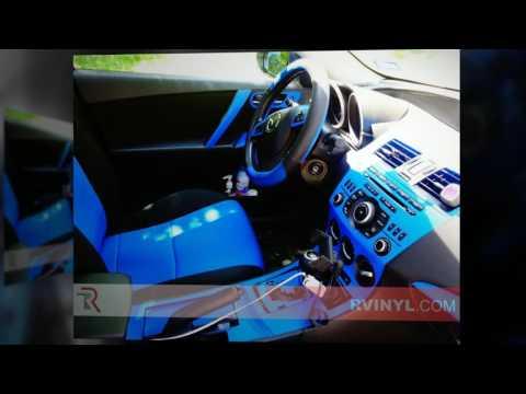 Mazda Mazda3 Blue Carbon Fiber 3D Dash Kits | Carbon Fiber Dash Trim