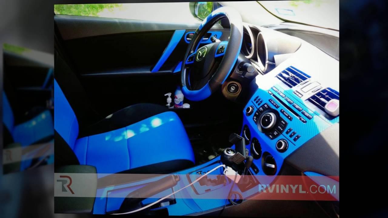 Mazda Mazda3 Blue Carbon Fiber 3d Dash Kits Carbon Fiber