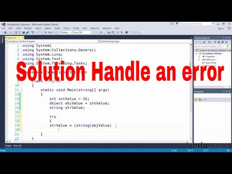 Solution Handle an error