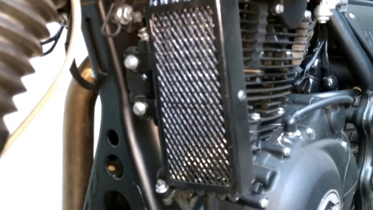 Royal Enfield Himalayan With New Oil Cooler Protector Youtube