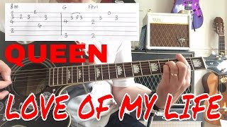 Queen - love of my life live killers version guitar play along tabif you wish to support the channel on patreon https://www.patreon.com/rocklick...