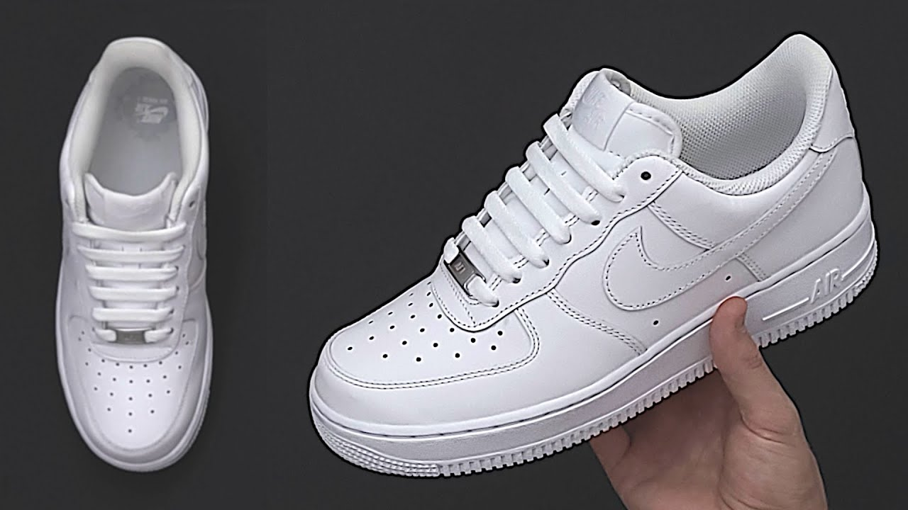 How To Bar Lace Nike Air Force 1   Nike Air Force 1 Bar Lacing styles