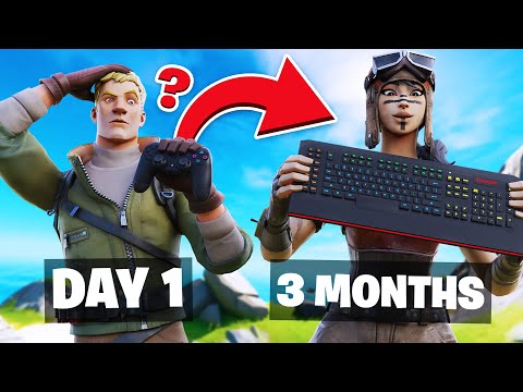 My 3 Month Controller To Keyboard & Mouse Progression! (Controller To KBM Progression Fortnite)