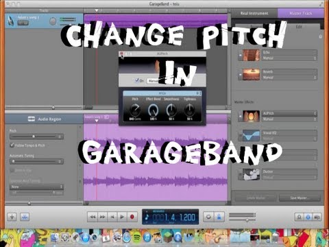 Change a Songs Pitch in GarageBand