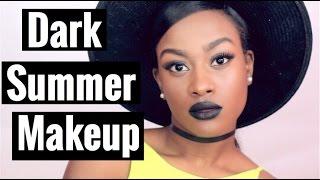 Dark Summer Makeup Look