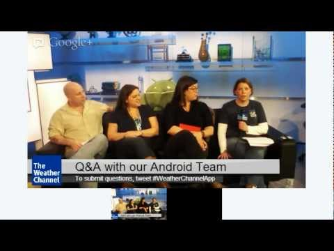 Q&A with The Weather Channel Android Team