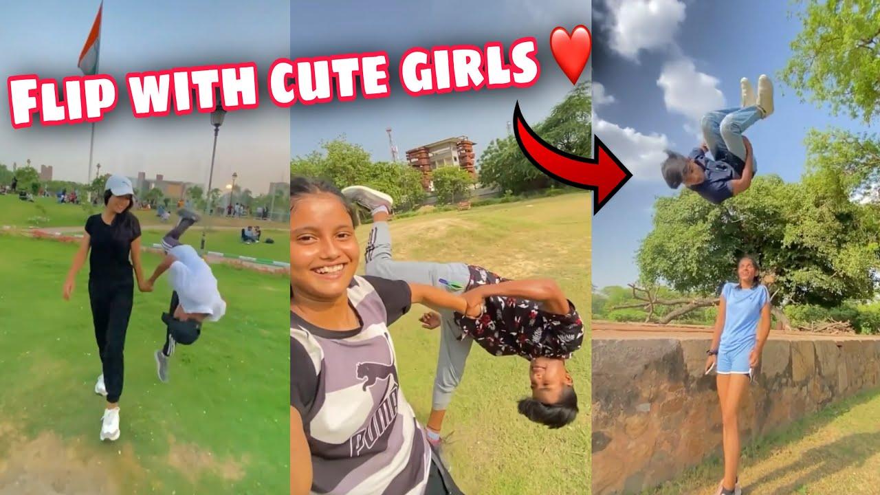 Flips With Cute Girls ❤️ || Backflip Reactions 😍