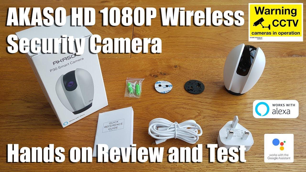 akaso p30  AKASO HD 1080P Wireless Security Camera works with Google Home Hub ...