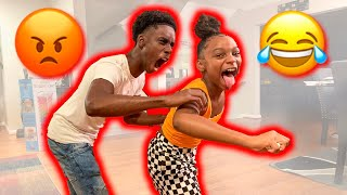 BREAKING MY BROTHERS AIRPODS!!!