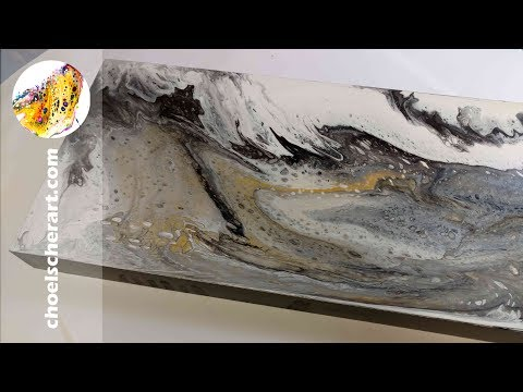 🐚Acrylic Pour Demonstration Tutorial Fluid Art How to - Oyster (SOLD)