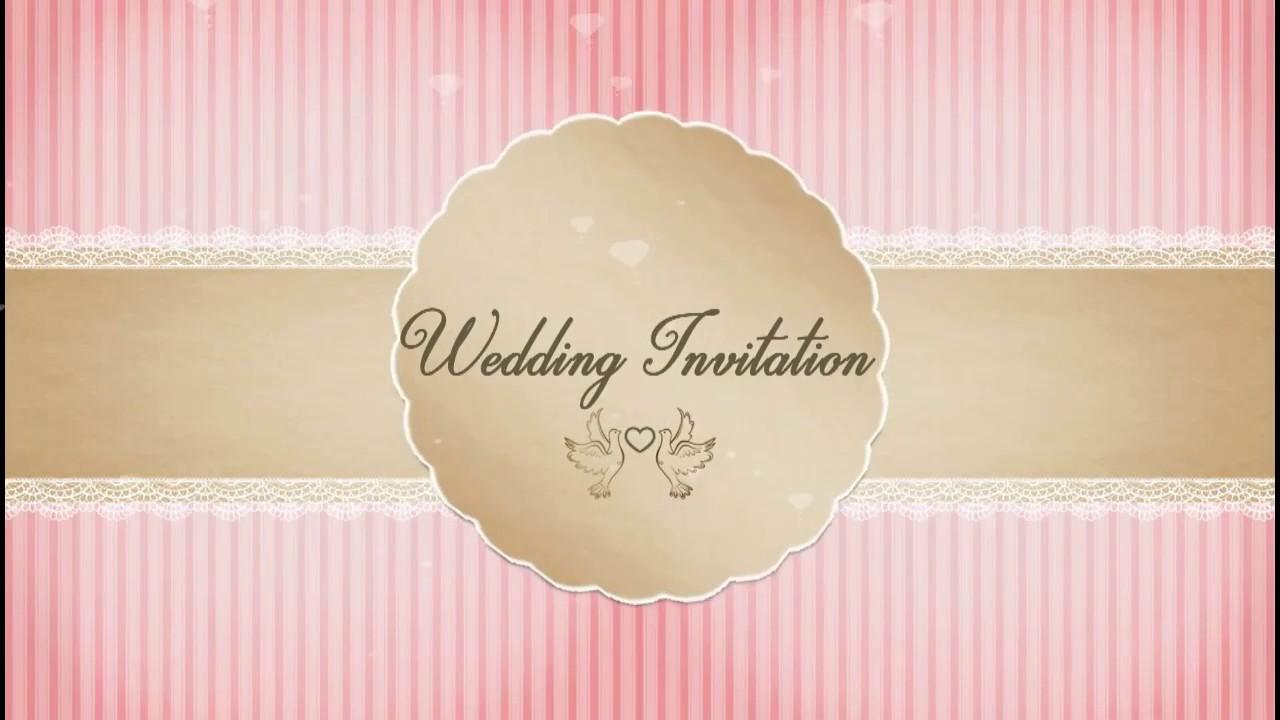 Whatsapp WEDDING/ENGAGEMENT Invitation , code: TIMWED - YouTube