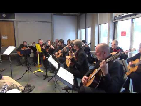 Kitchener/Waterloo Guitar Orchestra: Away in a Manger (Kirkpatrick)