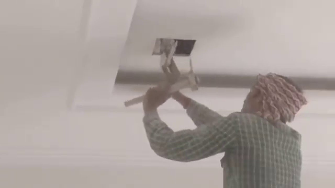 How To Cut Pop Ceiling For Light Youtube