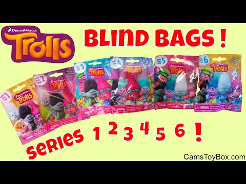Trolls Series 1 2 3 4 5 6 Blind Bags Opening Dreamworks Surprise Toys Review