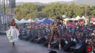 LADY SAW & LISA HYPER at REGGAE SUMFEST 2015