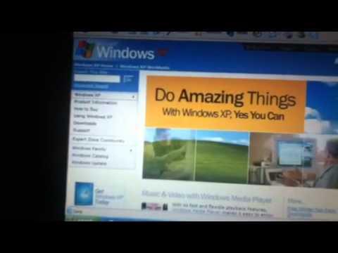 Demonstrating Internet Explorer 6 on Windows XP