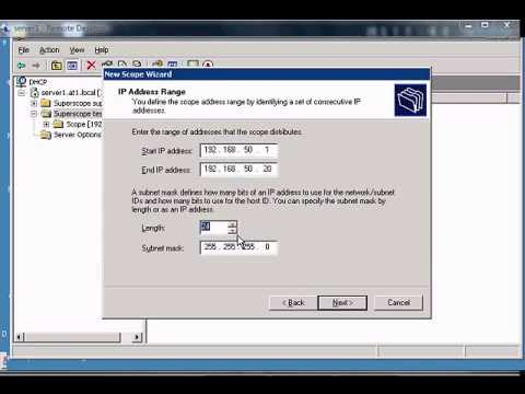 Create additional scopes in a windows DHCP superscope. Author and talk show host Robert McMillen explains the Create additional scopes in a windows DHCP superscope commands for a Windows 2003 server. This How To .... Youtube video for project managers.