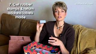 Top Ten Tips for Organizing Your Finances and Paying Bills | Clutter Video Tip