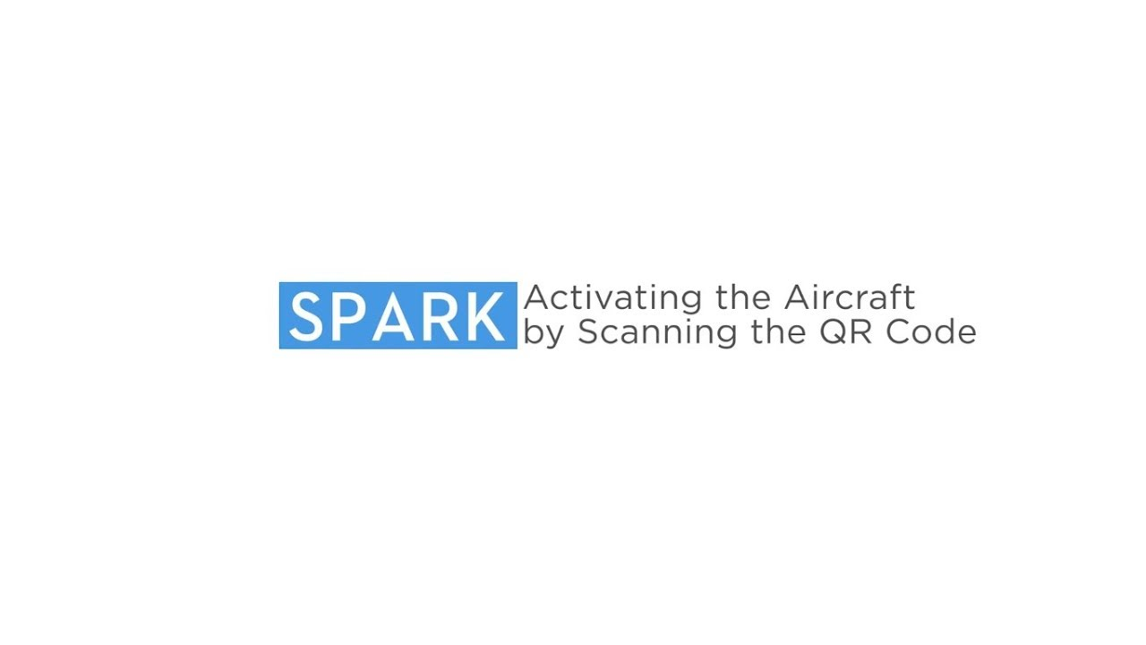 How to Activate DJI Spark by Scanning the QR Code