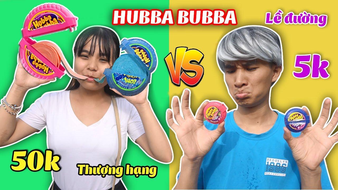 KẸO HUBBA BUBBA LỀ ĐƯỜNG 5000đ VS HUBBA BUBBA THƯỢNG HẠNG 50.000đ - Chewing Gum Battle